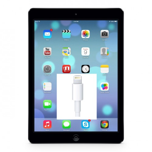 iPad-Air-byte-av-laddkontak