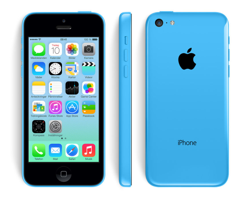 iPhone 5C byte av baksida