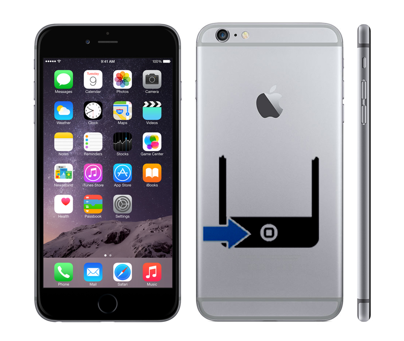 iPhone 6 Plus Reparation hemknapp