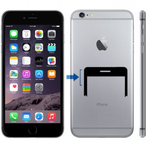 iPhone 6 Plus ljudlösknapp