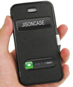 iPhone 4 / 4S Skinnfordral i konstläder