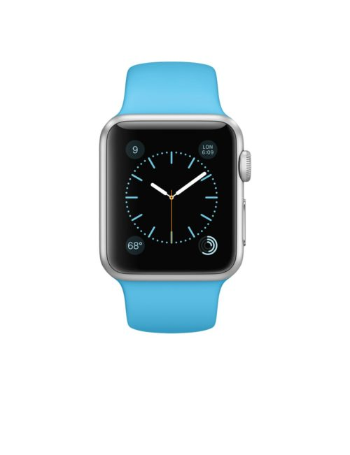 Apple Watch skärmbyte apple-watch-sport/38-mm-boett-i-silvrigt-aluminium-med-blue-sportband