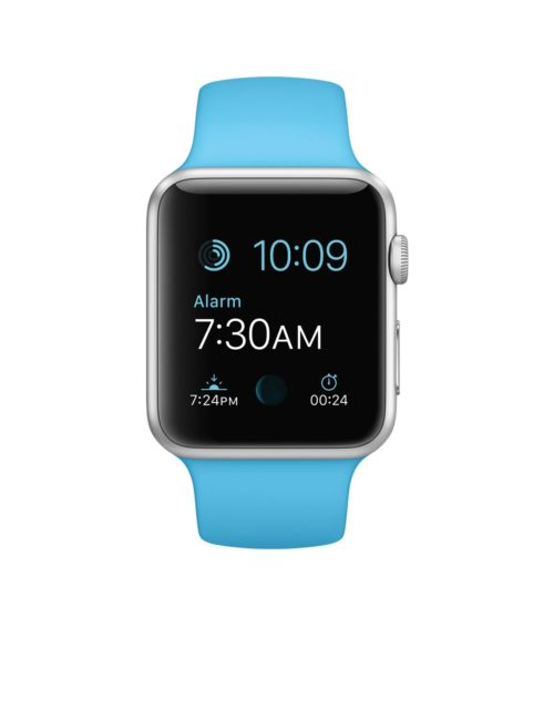 Apple Watch skärmbyte apple-watch-sport/42-mm-boett-i-silvrigt-aluminium-med-blue-sportband