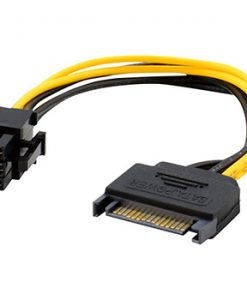 1x 20cm SATA 15 Pin Male to 6 Pin PCI-Express PCI-E Card Power Adapter Cable