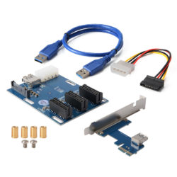 PCI-E-Express-1X-1-to-3-Port-Switch-Multiplier-Expansion-Hub-Riser-Card-AC816