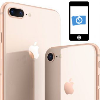 iPhone 8, 8 Plus fram kamera byte