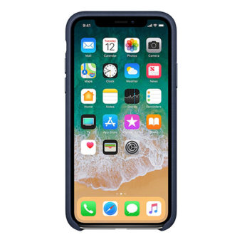 Apple Leather Case for iPhone X